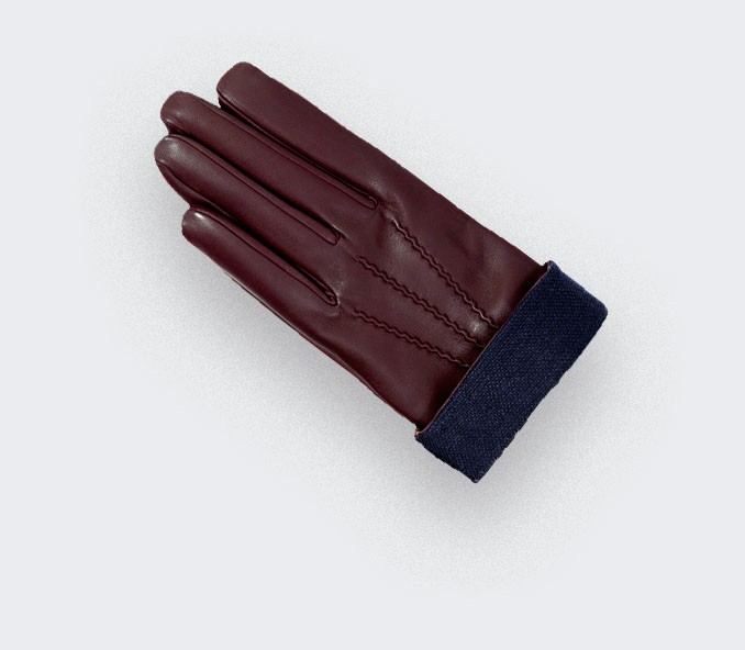 Gloves Sport Cinabre Bordeaux made in France