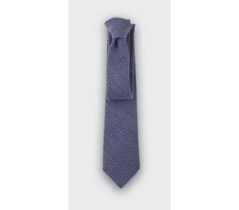 cravate chevron bi couleur bleu - cinabre paris