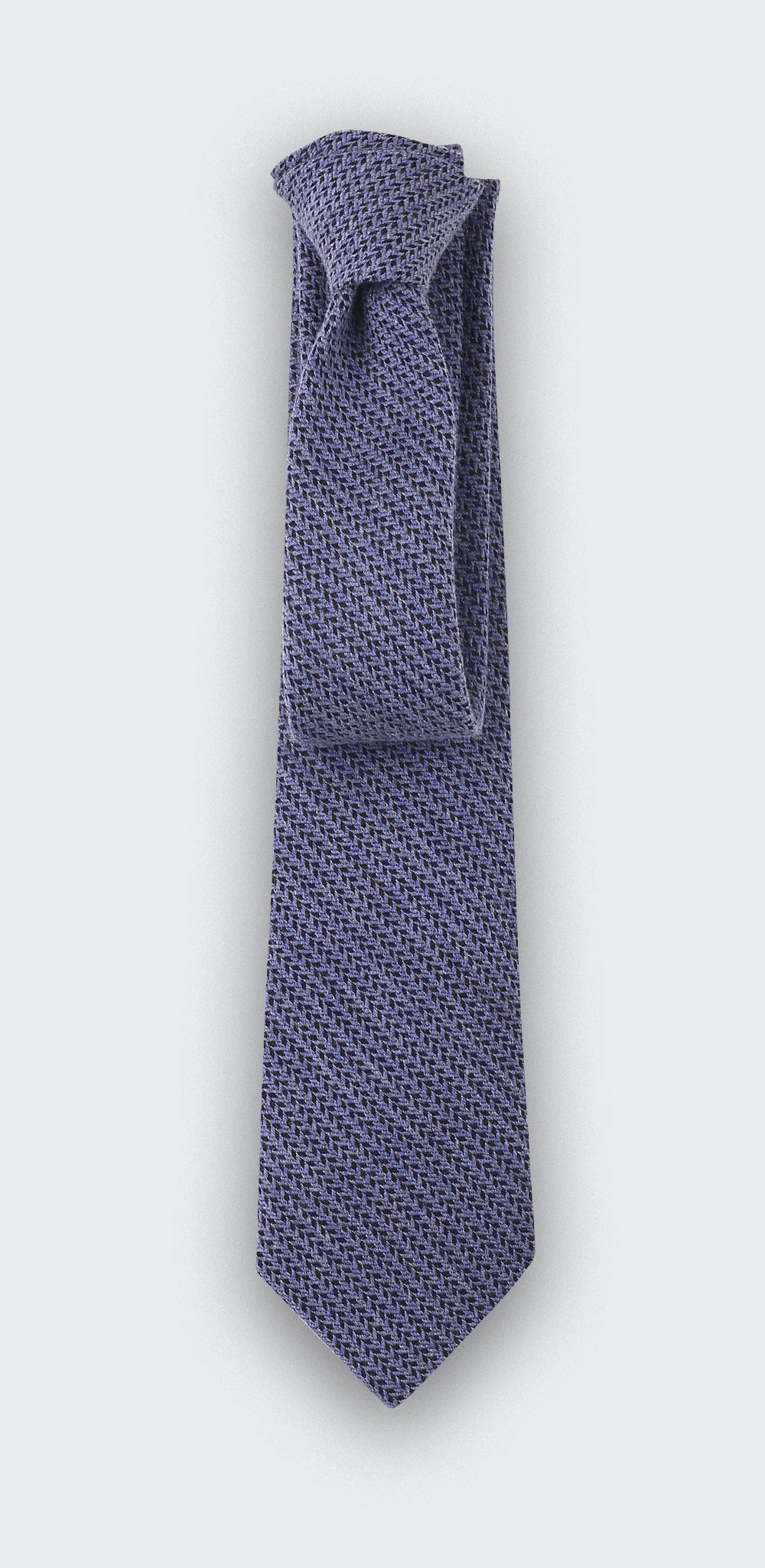 blue bi color herringbone tie - cinabre paris