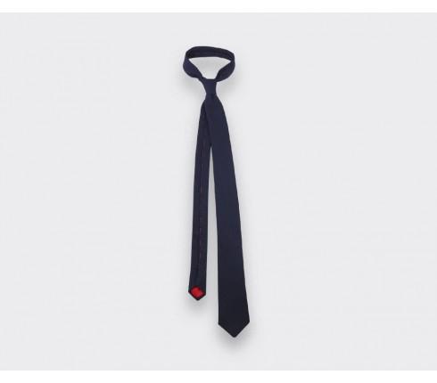 cravate chevron bicolore bleu marine - cinabre paris