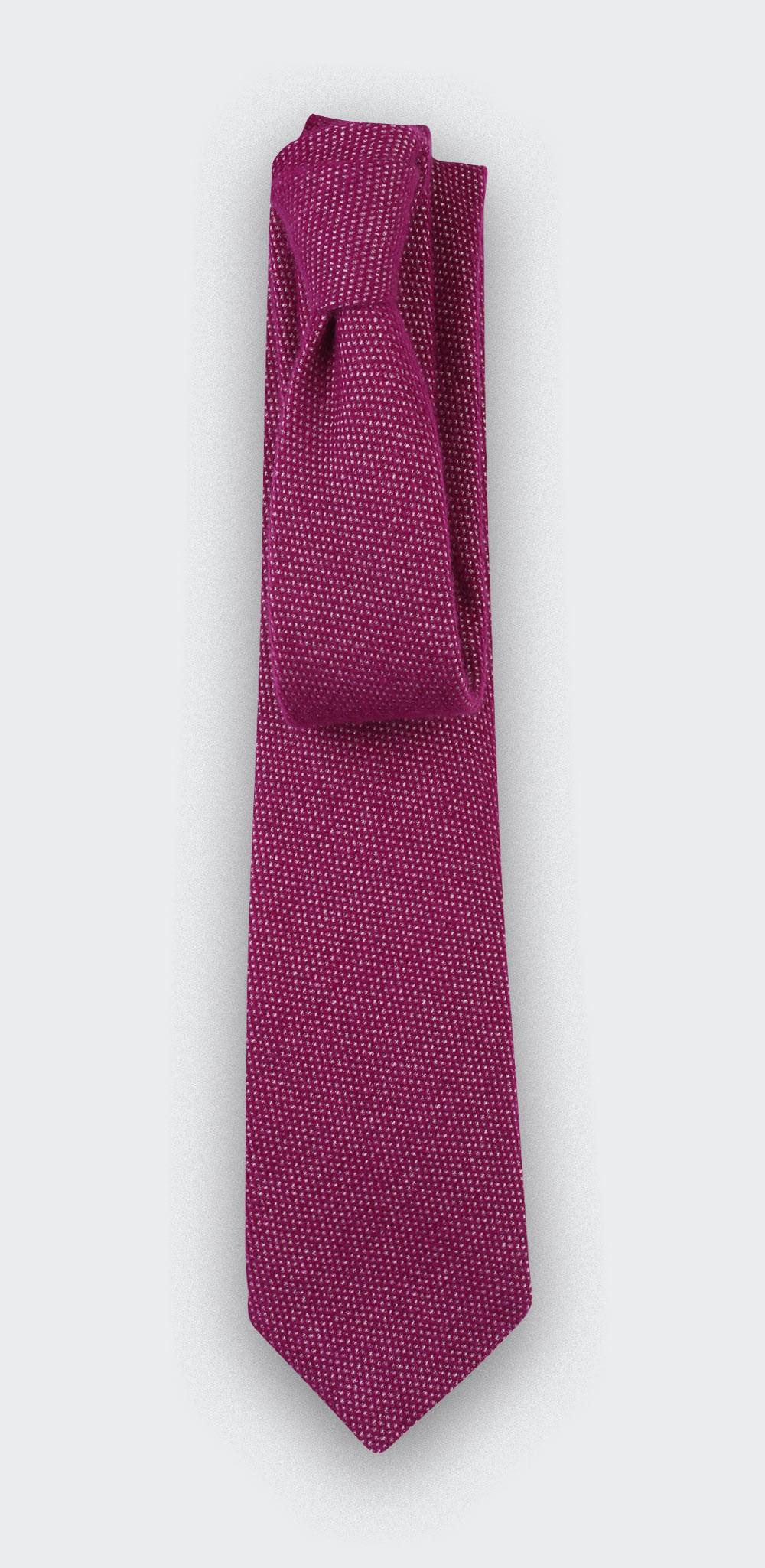 Cravate cachemire Cinabre fuchsia - cinabre paris