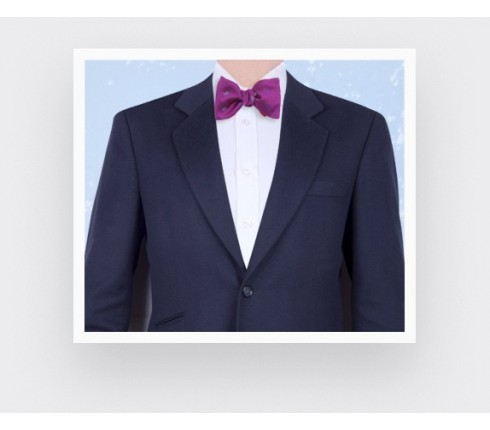 Fuchsia sledge bow tie - cinabre paris