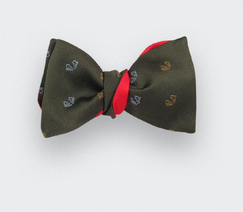 Green ice skate bow tie - cinabre paris