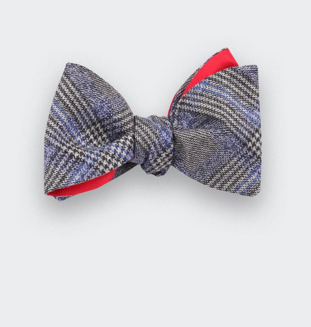 Noeud papillon bleu Prince de Galles - cinabre paris