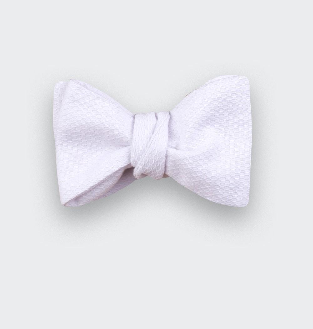 White pique bow tie - cinabre paris