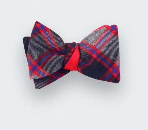 Grey tartan bow tie - cinabre paris