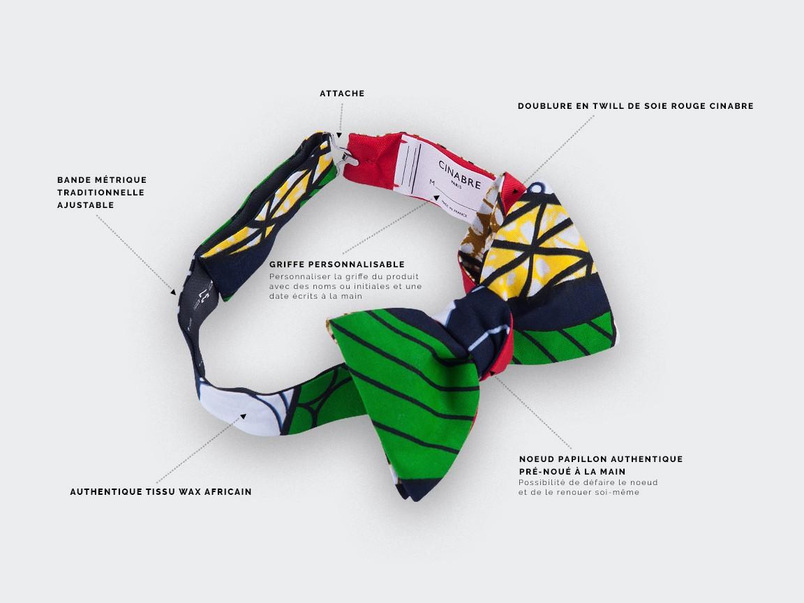 Green Wax Bow Tie - Cinabre Paris