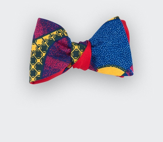 Fuchsia Wax Bow Tie - Cinabre Paris