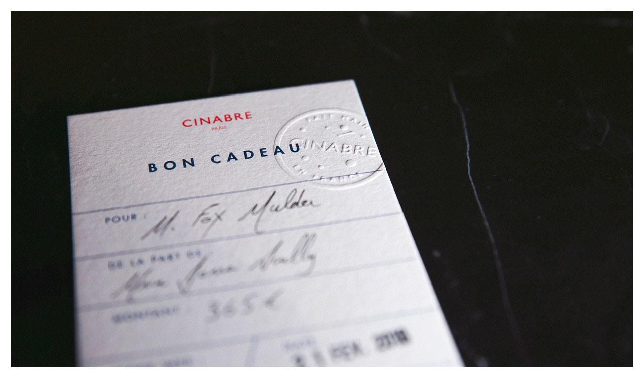 Bow tie - gift card 95euros - Cinabre Paris