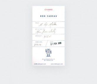 Noeud papillon - carte cadeau 85euros - Cinabre