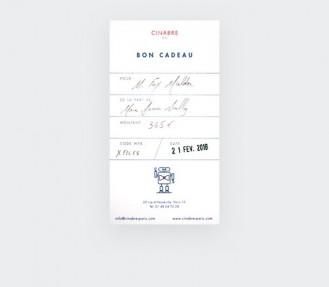 Cravate - carte cadeau 115euros - Cinabre