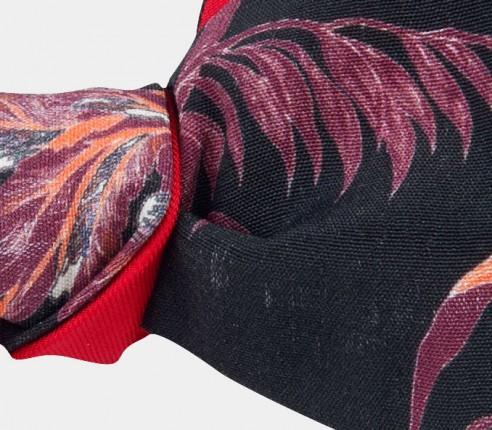 Liberty vintage flower bow tie - cotton - cinabre paris