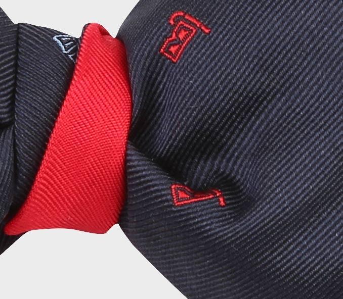 Navy Blue scuba bow tie - cinabre paris