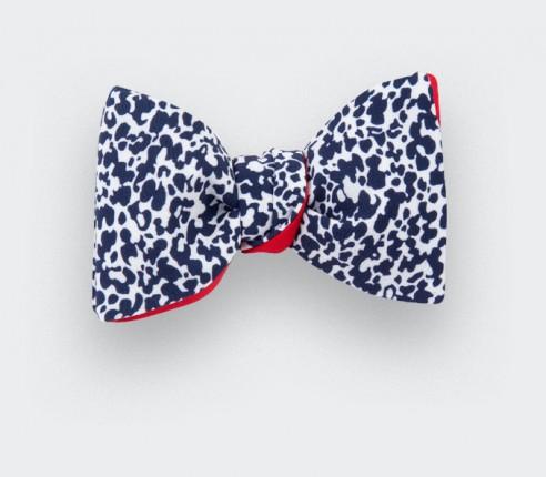Blue and white aquatic Bow Tie - cinabre paris