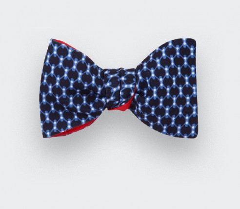 Light blue graphic Bow Tie - cinabre paris