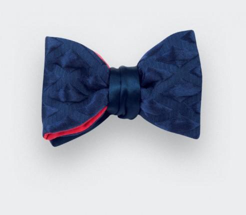 Noeud papillon losange 3D bleu - cinabre paris