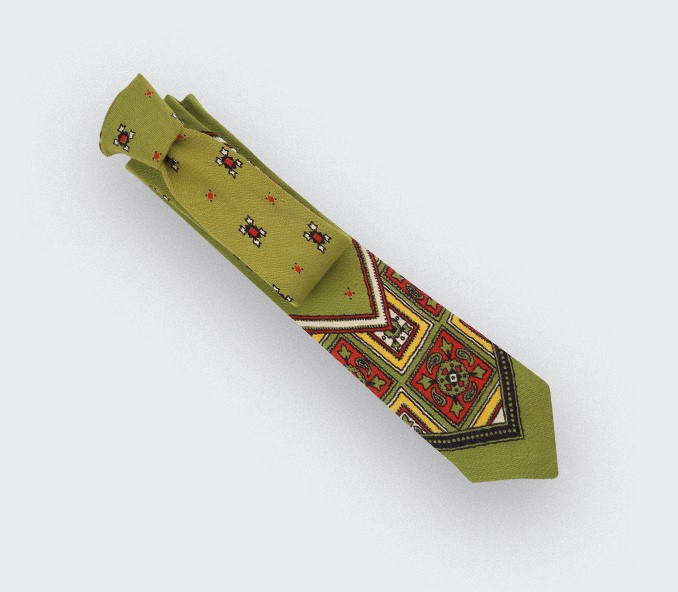 khaki Bandana Tie - cinabre paris