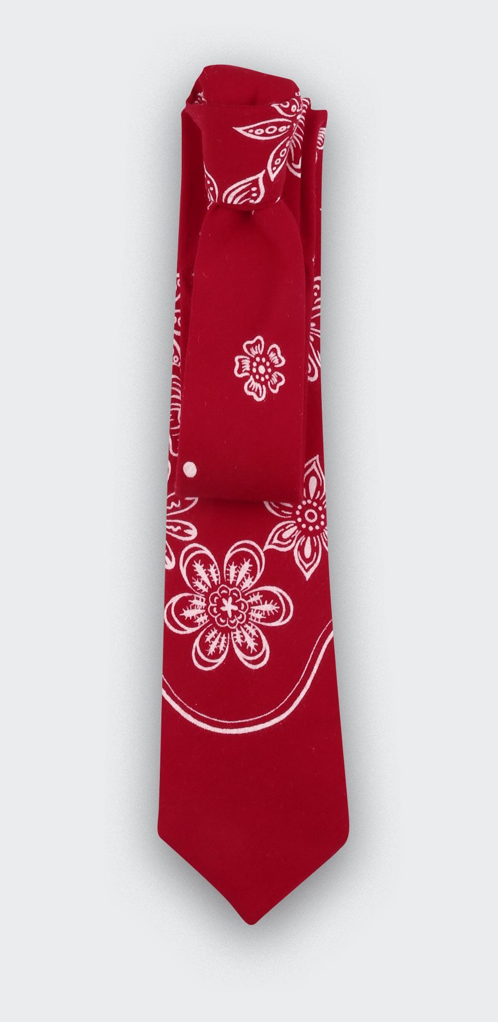 Red Bandana Tie - cinabre paris