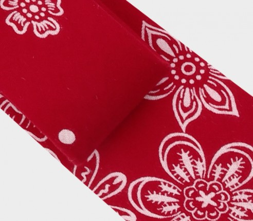 Cravate Bandana rouge - cinabre paris