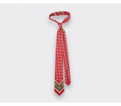 Cravate Bandana rouge bleu - cinabre paris
