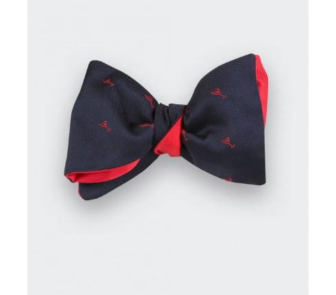 Navy Blue cocktail bow tie - cinabre paris