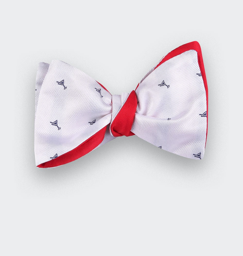 white cocktail bow tie - cinabre paris