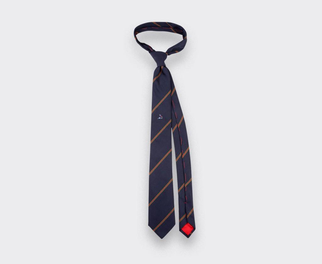 Dirty tackle tie - silk - cinabre Paris
