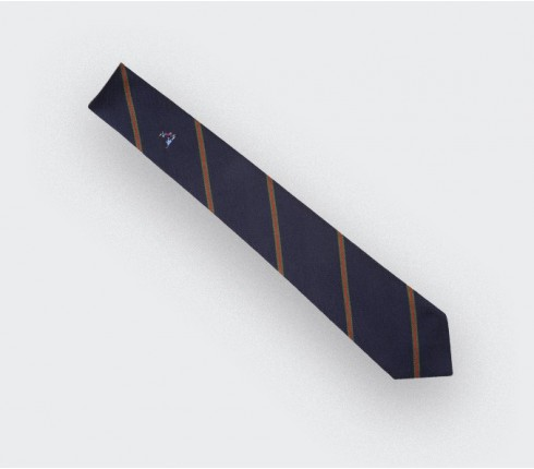 Dirty tackle tie - silk - cinabre Paris