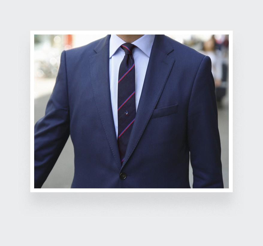 Handgaul tie - Silk - Cinabre Paris