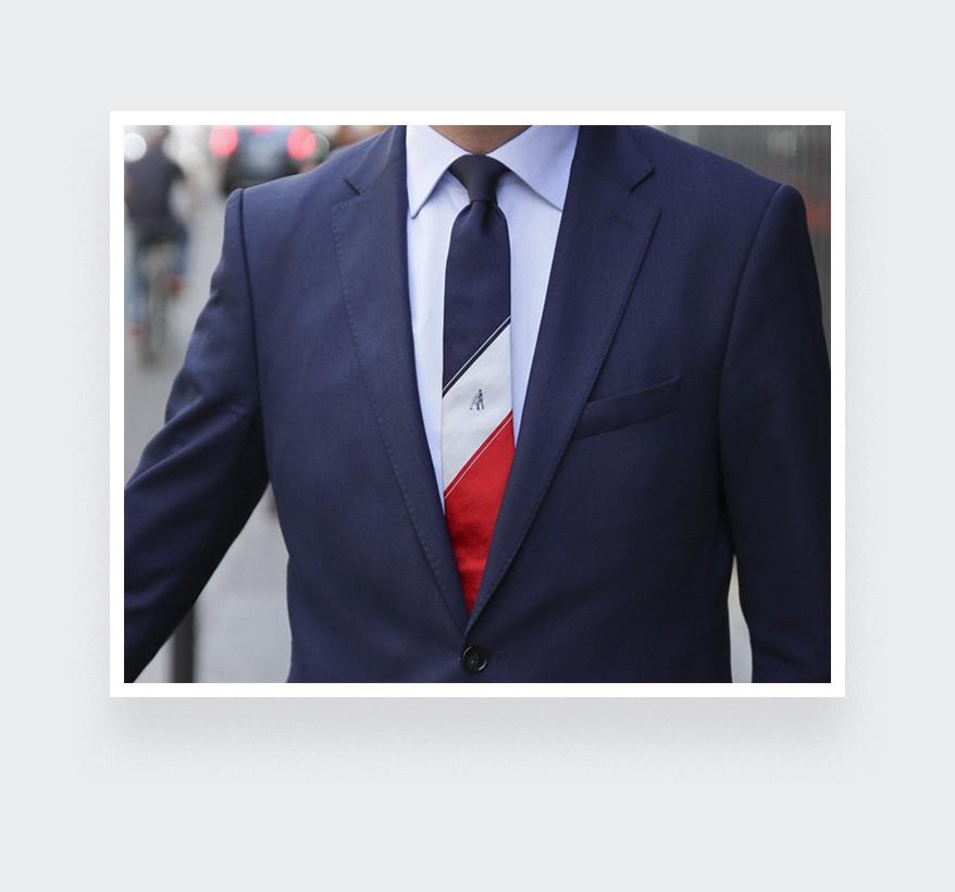 Graphic Zidane Tie - Silk - Cinabre Paris