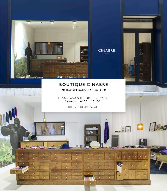 Découvrez la nouvelle boutique CINABRE a Paris France
