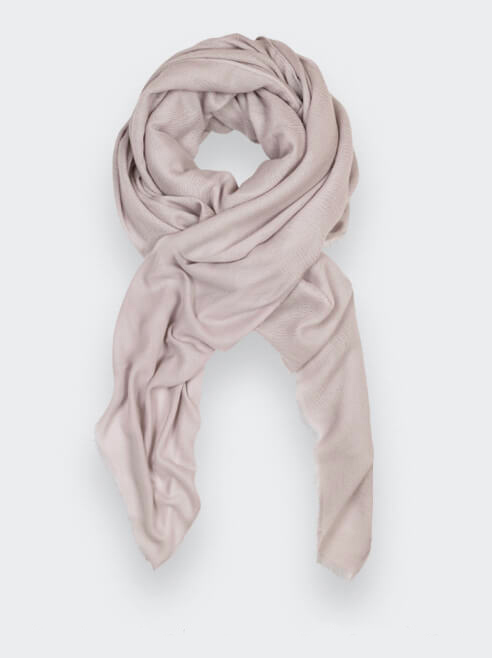 Sustainable cream cashmere scarf