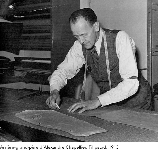 great-grandfather of Alexandre Chapellier in his atelier