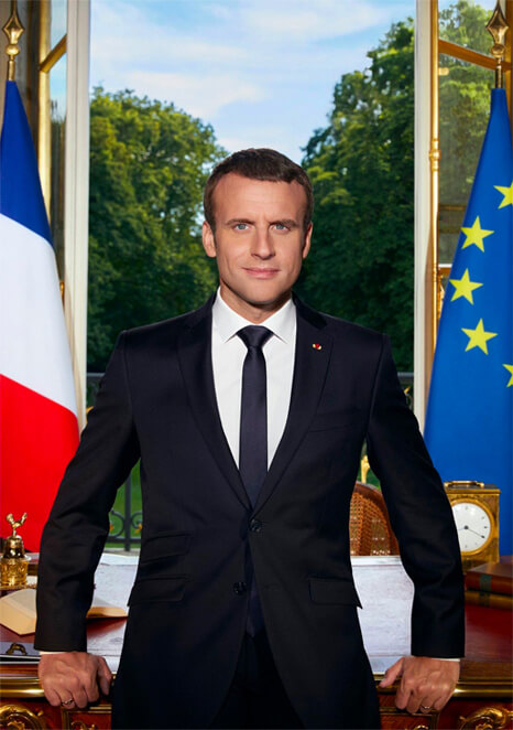 Portrait officiel Emmanuel Macron