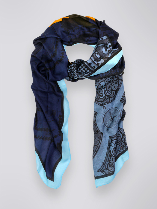 scarf Cinabre x musee Louvre knot 2