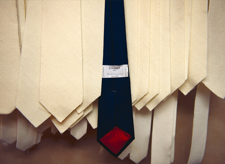 Bespoke ties in the Cinabre atelier