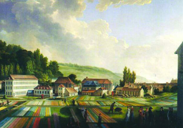 Painting of the Jouy manufacture in 1807