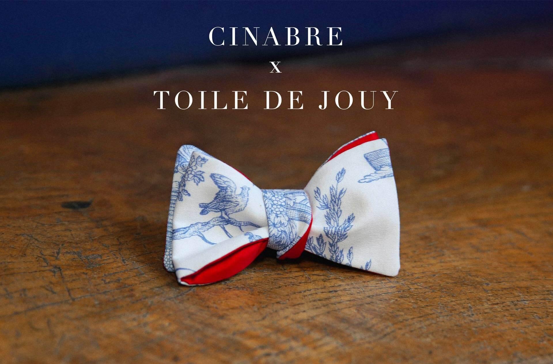 Cinabre toile de Jouy bow tie