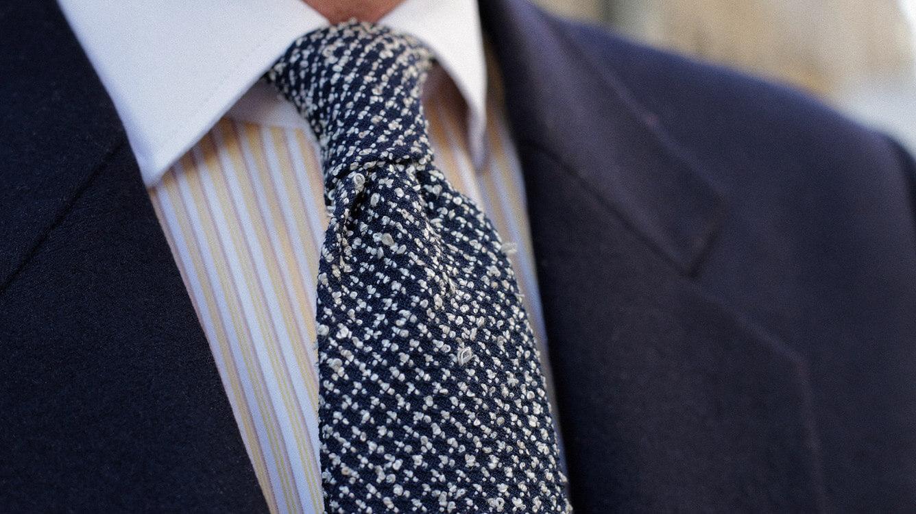 Cravates Séléné Relief Cinabre