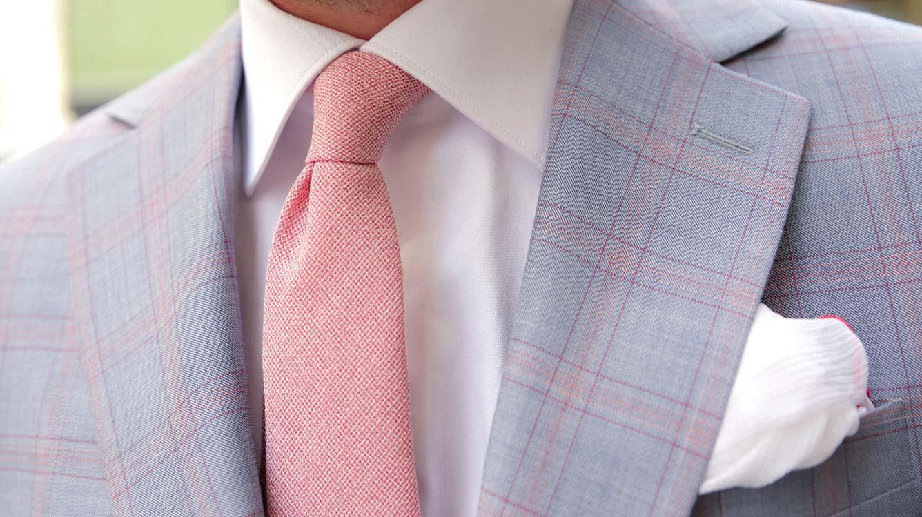 Cravates maille rose